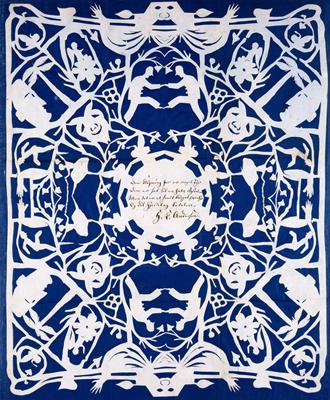 Papirklip af H.C. Andersen: »Og dit Hjertelag betaler«, 1864 (Odense Bys Museer)